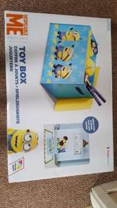 Minions wooden toy box £9.99 at home bargains