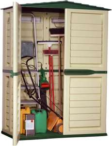 Starplast 37-811 151 x 83 x 198 cm Tall Garden Shed - Green/Beige £68.11 @ Amazon