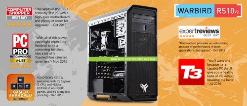 Yoyotech Warbird-rs10v2 Gaming (MSI 1060 6GB, Core i5 6600K) £799.99 (+£19.99 del)