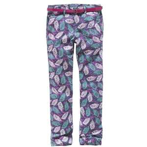 Cherokee Girls' Feather Print Trousers With Belt 5-12 years £2.50 @ Argos Free C&C