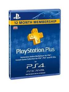 Playstation Plus Subscription 1 Year (365 Days) - price after £20 new account discount, plus Quidco £29.99 @ Littlewoods