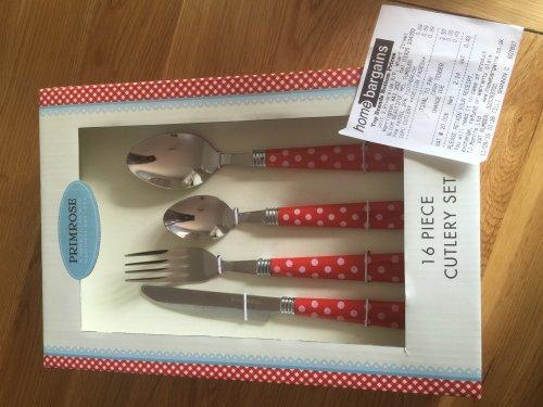 16 piece Primrose cutlery set 99p @ Home Bargains (Warrington)