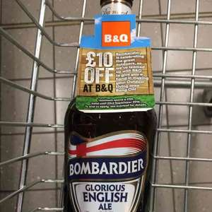 £10 off £50 spend at B&Q - Voucher on bottles of Bombardier.£1.29