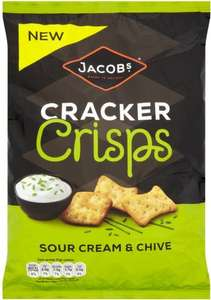 Jacob's Cracker Crisps - Sour Cream & Chive (150g) was £1.79 now 2 for £2.00 @ Asda