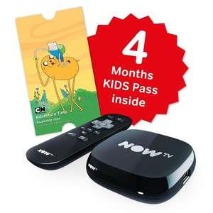NOW TV Box with 4 Months Kids Pass at Amazon for £15 (Prime or +£4.75)