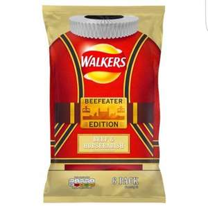 Walkers Beef & Horseradish 6 pack at Home Bargains for 49p
