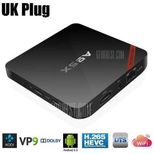NEXBOX A95X TV Box Quad core Amlogic S905X  -  2GB/16GB / 4K / Android 6.0 / KODI £25.29 @ GearBest