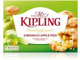 Mr Kiplings Fruit Pies Selection/Apple Pies/Apple & Blackcurrant Pies 6pk was £1.45 now 72p @ Tesco
