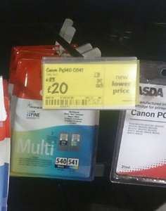 Asda,  Wrexham, £20, cannon print cartridges 540 & 541