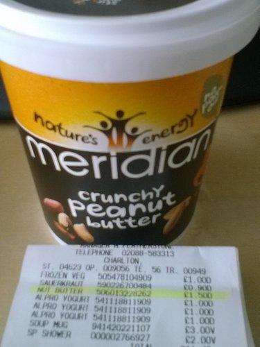 Meridian Crunchy Peanut Butter 454g £1.50 @ Asda in store Charlton, SE7