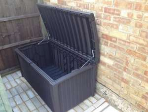 Keter Borneo Plastic Rattan effect Garden Storage Box £65 ( Use a £10 voucher) instore only @ B&Q