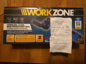 Aldi workzone cordless multifunction tool 12v - £9.99