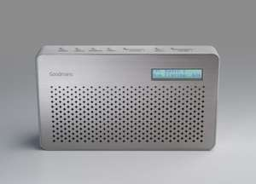 Amazon - Goodmans Portable Digital & FM Radio in Steel [DAB radio] - £26.95