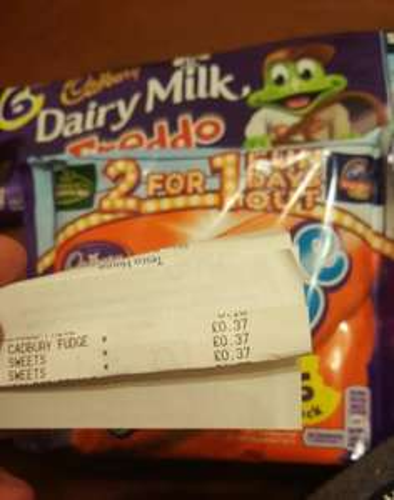 Cadbury Freddo & Fudge 6-packs: 37p at Tesco Express Edinburgh