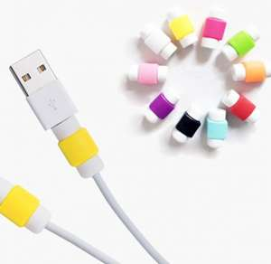 Cable protector and - make cables easy to distinguish - for apple iPhone and android cables 34p including delivery @ aliexpress (Shenzhen CarNival Trading Co., Ltd.)