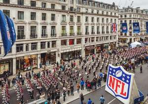NFL returns to Regent Street on 1st October -free events, meet players & cheerleaders!