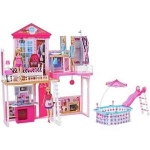 25% - 50% Off Selected Toys at Argos ie Complete Barbie Home Set inc House, Glam Pool, 3 Dolls + 3 Furniture Sets was £99.99 now £49.99