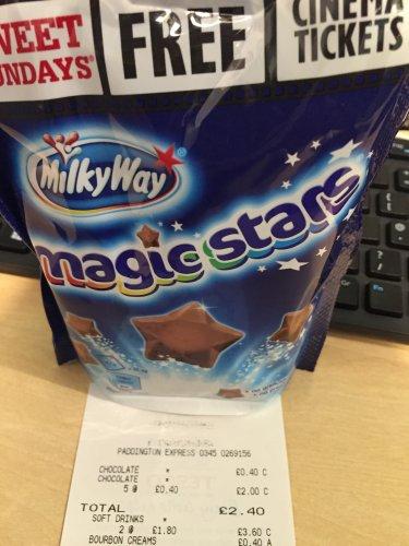Sweet Sunday Cinema Ticket + 6x Milky Way Magic Stars £2.40 / 40p each @ Tesco
