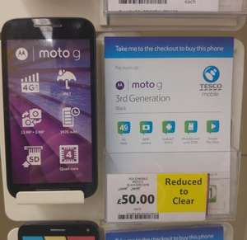 Moto G (3rd Generation) - £50 Tesco Mobile Instore Canterbury