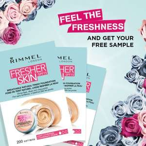 Free sample of Rimmel's Fresher Skin foundation