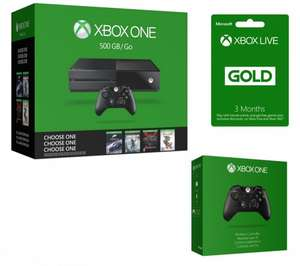 Xbox One + 1 of 4 games + extra controller + 3 months Live Gold = £239.99 @ Currys/PC World