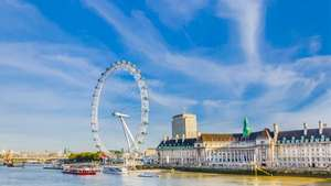 Overnight stay at the 4-star Crowne Plaza Ealing with breakfast & parking + Two Red Rover 24hr River cruises tickets & Two London attraction tickets of your choice from £74.50pp (Based on 2 people) @ Great Little Breaks