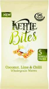 Kettle Bites Coconut Lime & Chilli Wholegrain Waves (5 x 22g) was £1.90 now £1.00 @ Sainsbury's
