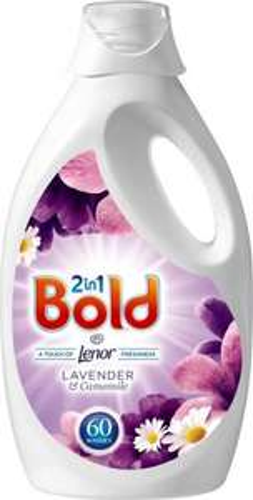 Bold Bio 2in1 Washing Liquid Lavender & Camomile (60 Washes = 3L) was £12.00 now £6.00 @ Ocado