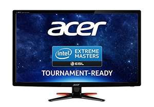 Acer GN246HLBbid 24 inch Wide FHD LED Gaming Monitor with 144 Hz, 1 ms, 350 nits, DVI, HDMI, Acer EcoDisplay at Amazon for £169.99