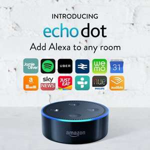 Amazon Echo Dot (2nd Generation), Black for £49.99