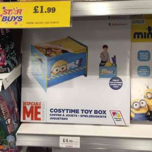 Minion material toy box £4.99. Home Bargain in store