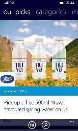 Nuva water free from Boots by O2 priority.