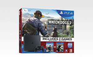 PS4 Slim 1TB Watch Dogs + Watch Dogs 2 bundle £309.99 GAME