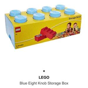 LEGO Blue / Lime Eight Knob Storage Box £16.99 + delivery @ TKMaxx