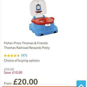 Thomas and friends potty. Now £20 (£22 without tesco delivery plan) at Tesco direct.