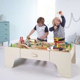 George Home Wooden Train Set and Table now £67.95 Delivered at Asda George
