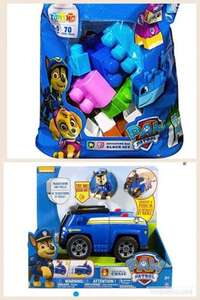 Paw patrol deluxe vehicle assortment and ionx building bag was £24.99 now £6.25 tesco Instore