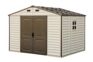 Woodside 10 x 8ft Vinyl Storage shed with Foundation £525 on Amazon + delivery depending on location.