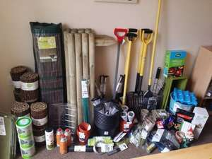 Massive garden clearance at Wilko. Tools £1.25, Paint £2, Willow edging £1, Bucket bbq 50p & loads more