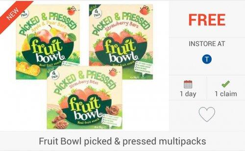 FREEBIE: Fruit Bowl Picked & Pressed Multipacks via Checkoutsmart App - £1.50 @ Tesco Only