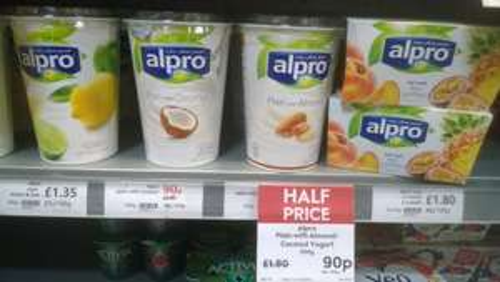 Alpro soya yogurt with almond/coconut (500g) - 90p @ Waitrose