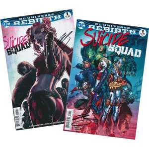 Suicide Squad #1 Double Pack or Suicide Squad Rebirth #1 Double Pack (Both Sets Signed by Author Rob Williams) 1st Edition Prints only £5.95 per set @ Forbidden Planet