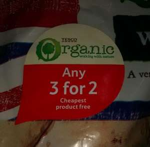 Any 3 for 2 on ALL organic fruit, nuts + veg @ Tesco (in-store+online) until 25/09 - Prices vary