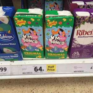 Um Bongo, half price, 64p for 1Litre at Tesco Instore