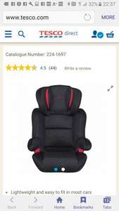 High back group 2-3 car seat £20 from £60 at Tesco Direct