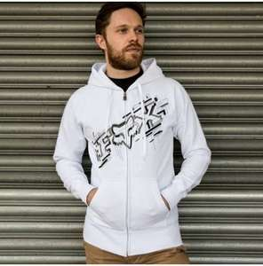 Mens White FOX RACING Zip Hoodie £4.99 @ Chain reaction cycles