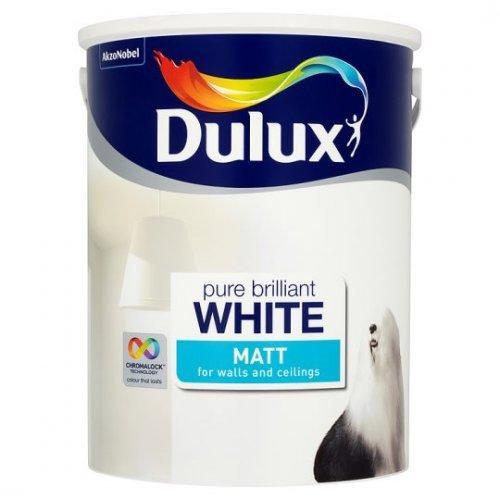 Dulux 5l white Matt emulsion - tesco groceries for £8