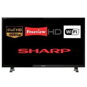 "Sharp LC-48CFF6001K 48"" Smart LED TV Full HD 1080p Built-In Freeview HD Wi-FiREFURBISHED WITH  12 MONTH TESCO OUTLET WARRANTY £219.00 @ tesco ebay **Back in Stock**"