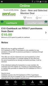Zavvi New and 'selected' (not all will get it) customer TCB offer - FIFA 17 possible £34.99 - £44.99