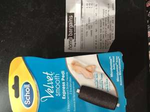 Scholl Velvet smooth Express Pedi 2 replacement roller heads £4.49 @ Home Bargains